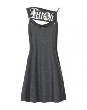 Короткое платье B2. Цвет: стальной серый