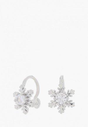 Каффы Shine&Beauty с покрытием серебром 925 пробы. Цвет: серебряный