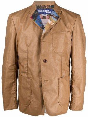 Пиджак с контрастными лацканами Junya Watanabe MAN. Цвет: коричневый