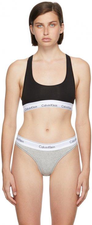 Black Unlined Modern Bralette Calvin Klein Underwear. Цвет: 001 black