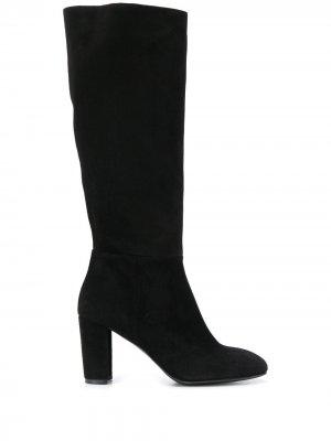 Сапоги с закругленным носком Albano. Цвет: черный