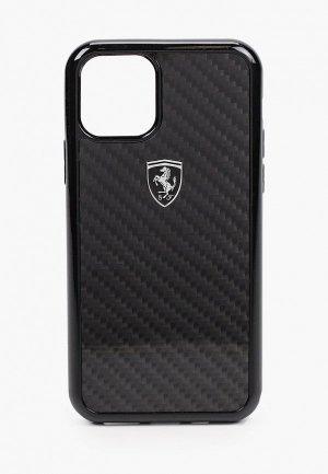Чехол для iPhone Ferrari 11 Pro, Real carbon Black. Цвет: черный
