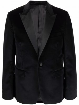 Бархатный пиджак PAUL SMITH. Цвет: черный