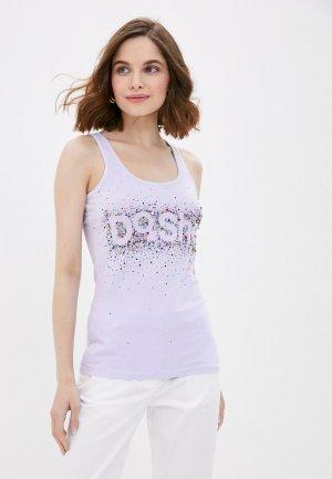 Майка DSHE. Цвет: фиолетовый