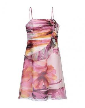 Платье до колена CARLO PIGNATELLI. Цвет: розовый