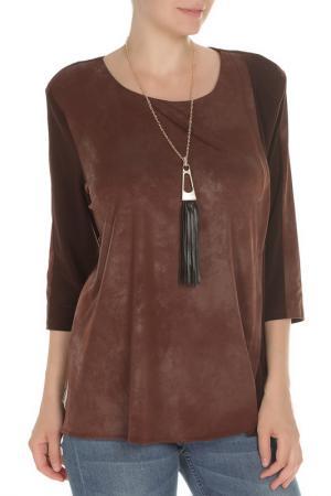 Туника с кулоном Exclusive. Цвет: коричневый