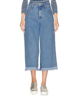 Джинсовые брюки-капри GLAMOROUS. Цвет: синий