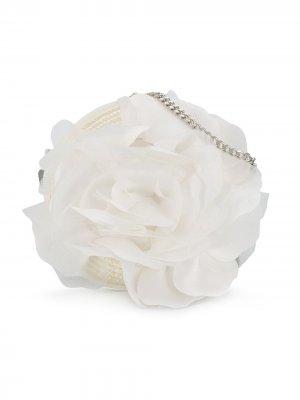 Декорированная сумка на плечо с тюлем и цепочкой Aletta. Цвет: белый