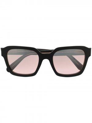 Солнцезащитные очки в геометричной оправе Moncler Eyewear. Цвет: коричневый
