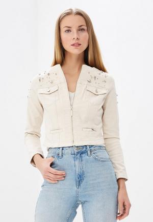 Куртка джинсовая Love Republic LO022EWBCFF8. Цвет: бежевый