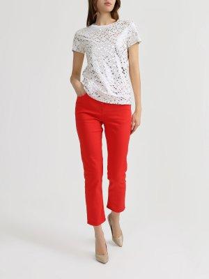Укороченные джинсы Patrizia Pepe. Цвет: krasnyy