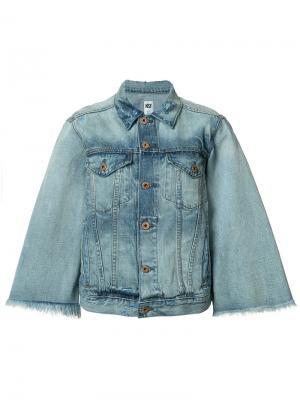 Джинсовая куртка с расклешенными рукавами NSF. Цвет: синий