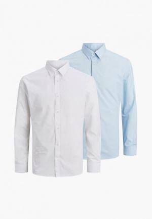 Рубашки 2 шт. Jack & Jones. Цвет: разноцветный