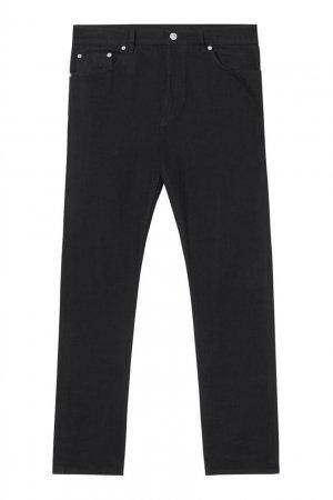Черные джинсы прямого кроя Burberry. Цвет: черный