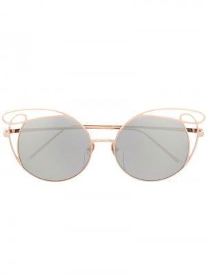 Солнцезащитные очки Precious Linda Farrow. Цвет: золотистый