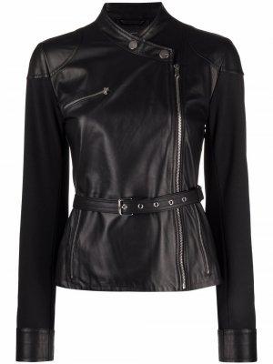 Байкерская куртка без воротника Pinko. Цвет: черный