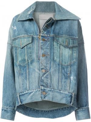 Джинсовая куртка кроя оверсайз Monse. Цвет: синий
