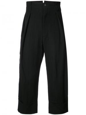 Укороченные брюки mustang Ann Demeulemeester. Цвет: черный