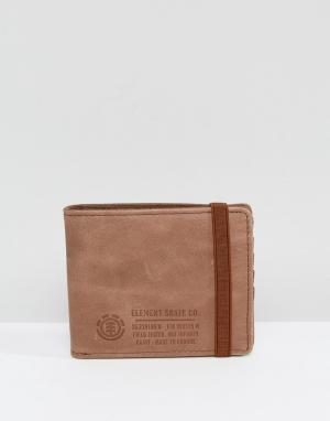 Коричневый кожаный бумажник Endure Element. Цвет: коричневый