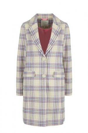 Пальто Tom Tailor Denim. Цвет: бежевый, клетка