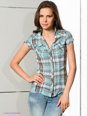 Рубашка FreshMade. Цвет: голубой