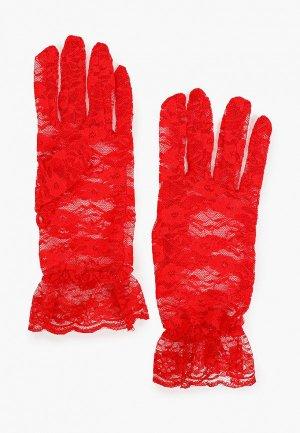 Перчатки La Cabaret. Цвет: красный