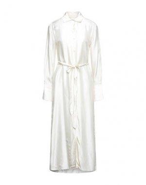 Платье миди ELIZABETH AND JAMES. Цвет: слоновая кость