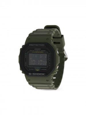 Наручные часы DW5610SU-3 Military Green pre-owned 43 мм G-Shock. Цвет: зеленый