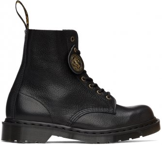 Black C.F. Stead Made in England 1460 Pascal Boots Dr. Martens. Цвет: black