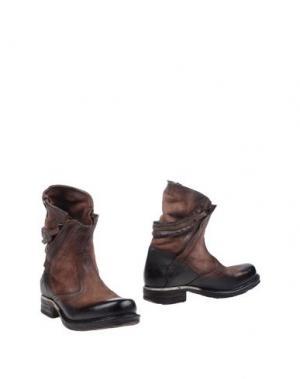 Полусапоги и высокие ботинки AIR STEP. Цвет: темно-коричневый