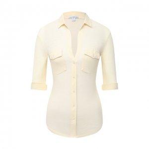 Хлопковая рубашка James Perse. Цвет: бежевый