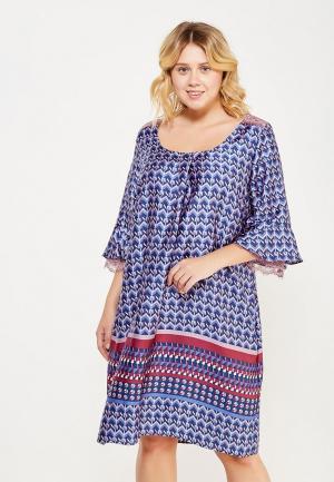 Платье Fiorella Rubino. Цвет: синий