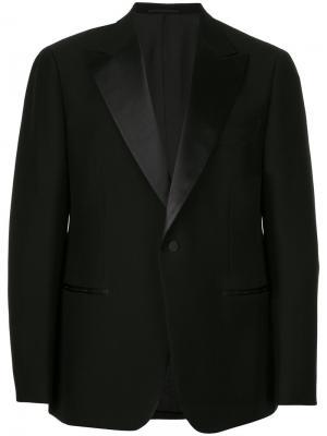 Пиджак-смокинг с заостренными лацканами United Arrows. Цвет: черный