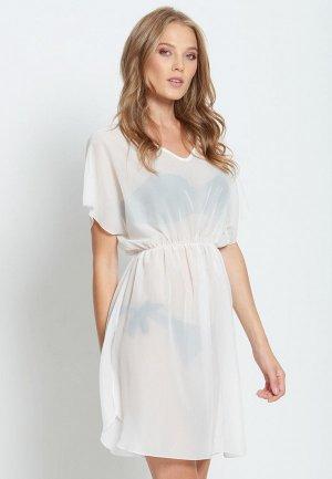 Платье пляжное Donatello Viorano Бомбей. Цвет: белый