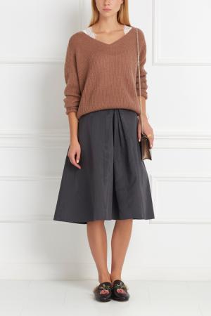 Пуловер из мохера Nina Ricci. Цвет: бежевый