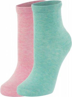 Носки для девочек , 2 пары, размер 25-27 Demix. Цвет: фиолетовый