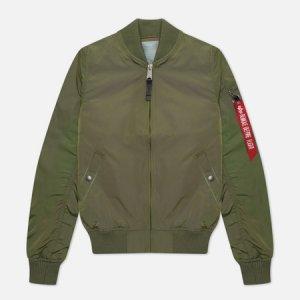 Женская куртка бомбер MA-1 TT Alpha Industries. Цвет: оливковый