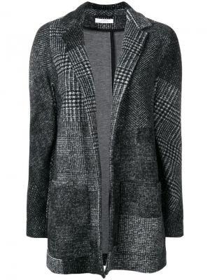 Твидовый жакет Versace Collection. Цвет: черный