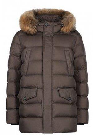 Куртка ADD. Цвет: коричневый