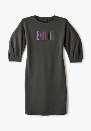 Платье Emporio Armani. Цвет: хаки