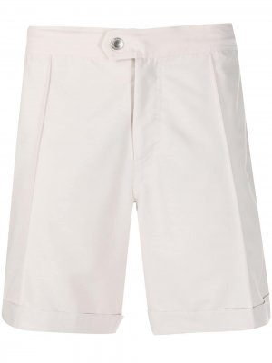 Плавки-шорты со складками Brunello Cucinelli. Цвет: белый