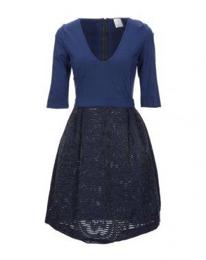 Короткое платье NOLITA. Цвет: синий
