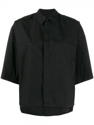 Рубашка свободного кроя с короткими рукавами A.F.Vandevorst. Цвет: черный
