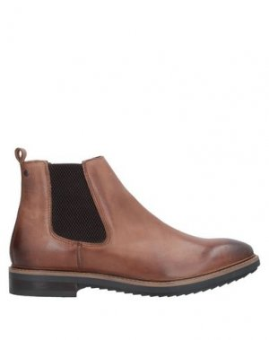 Полусапоги и высокие ботинки BASE London. Цвет: коричневый