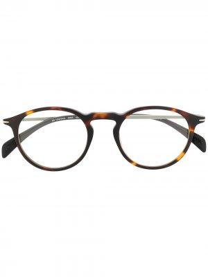 Солнцезащитные очки в круглой оправе Eyewear by David Beckham. Цвет: нейтральные цвета