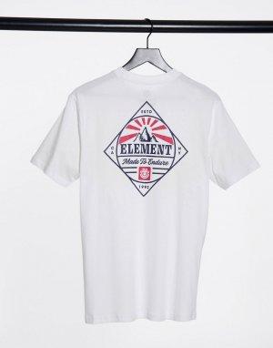 Белая футболка с принтом Medwell-Белый Element