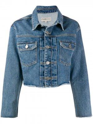 Укороченная джинсовая куртка Berty Fiorucci. Цвет: синий