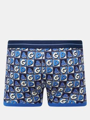 Боксеры D&G Underwear. Цвет: siniy