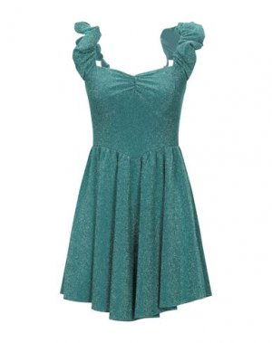 Короткое платье ANIYE BY. Цвет: бирюзовый