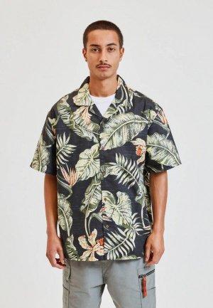 Рубашка Pull&Bear. Цвет: черный